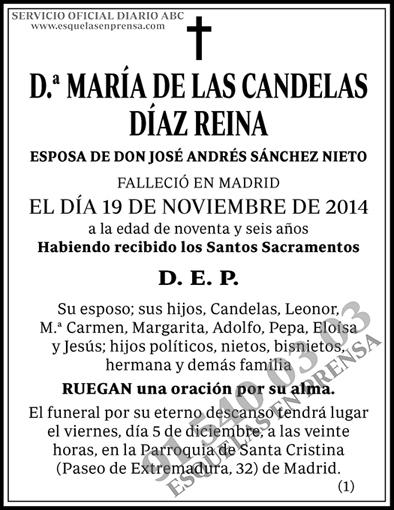 María de las Candelas Díaz Reina
